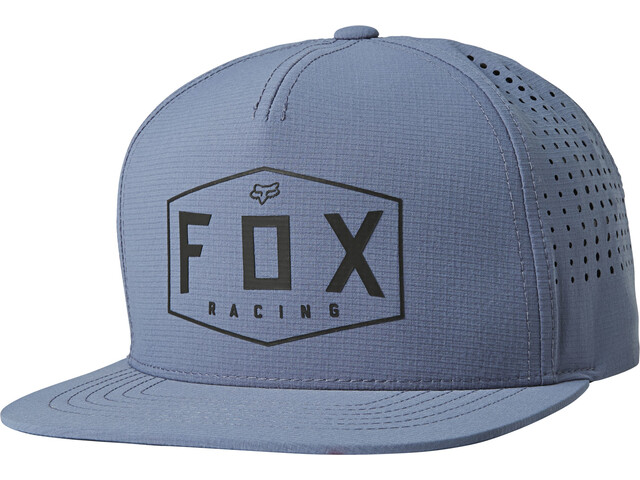 Fox Crest Snapback Hat Men blue steel